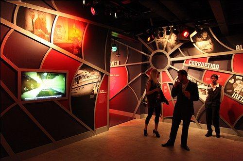 Web of Deceit Room at Mob Museum in Las Vegas